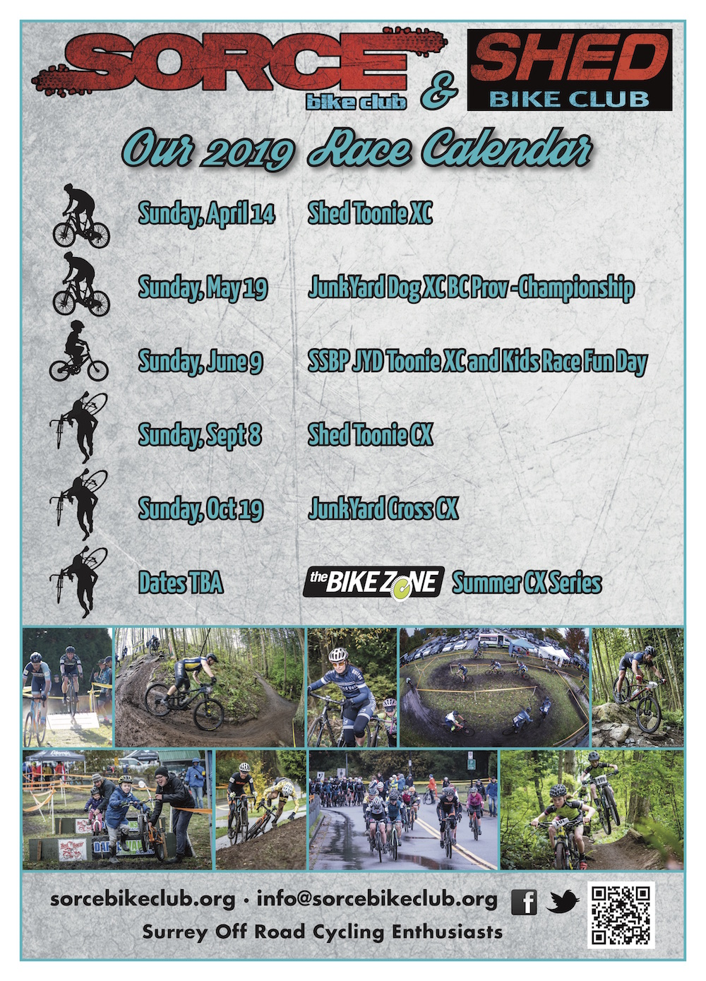 2019 Race Calendar SUNDAY19